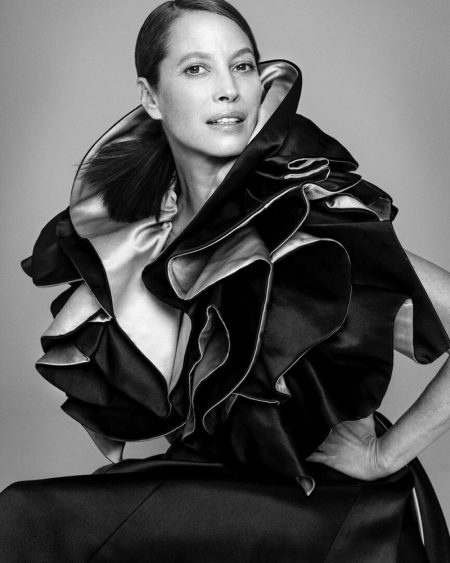 Christy Turlington Wears Elegant Styles for ELLE India