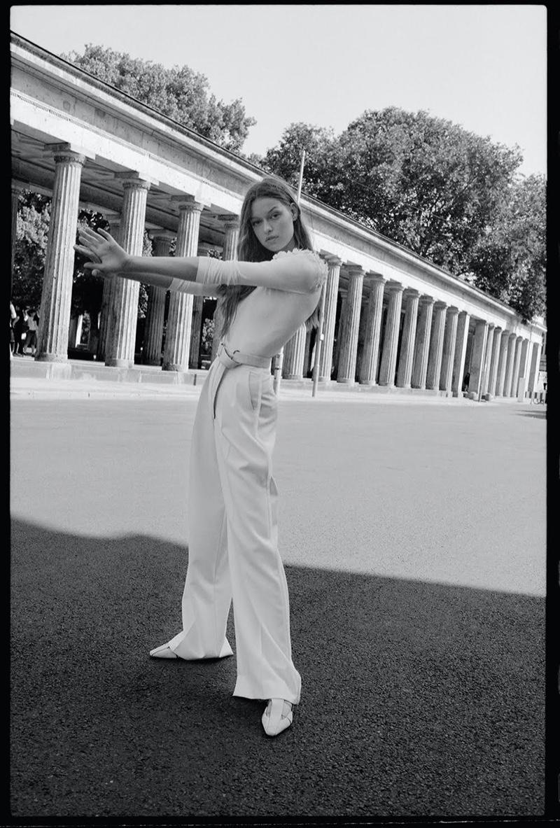 Cosima Fritz Models White Looks for TELVA Magazine
