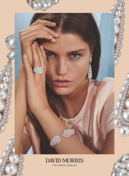 Ready for her closeup, Luna Bijl fronts David Morris 2019/2020 campaign