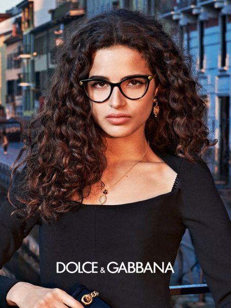 Model Chiara Scelsi appears in Dolce & Gabbana Eyewear fall-winter 2019 campaign
