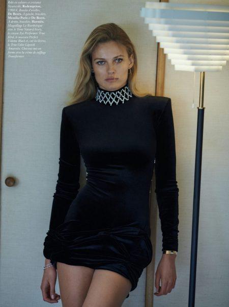 Edita Vilkeviciute Wears Effortlessly Chic Styles for Vogue Paris