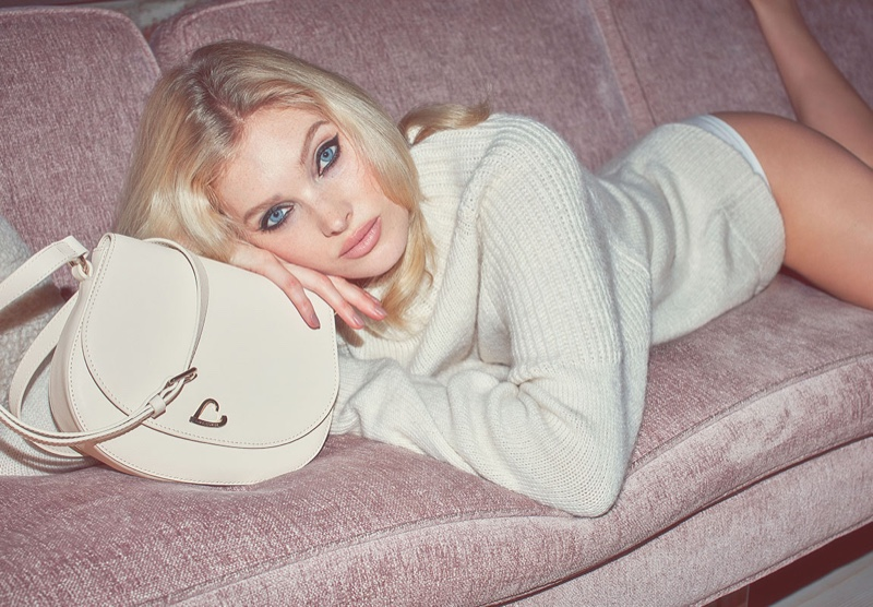 Lounging in style, Elsa Hosk poses for Lancaster spring-summer 2020 campaign.