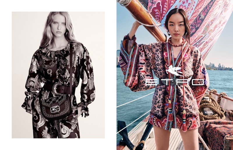 Abby Champion and Fei Fei Sun front Etro spring-summer 2020 campaign