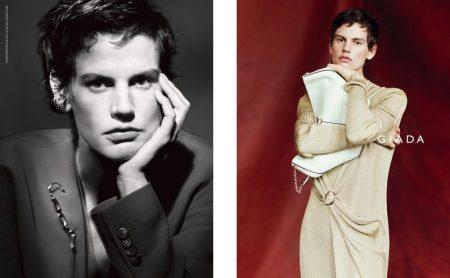 Model Saskia de Brauw layers up in Giada spring-summer 2020 campaign
