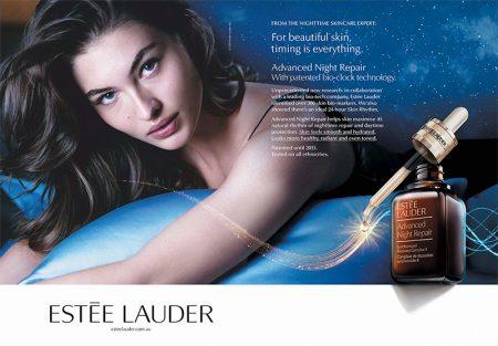 Grace Elizabeth stars in Estee Lauder Advanced Night Repair Eye campaign