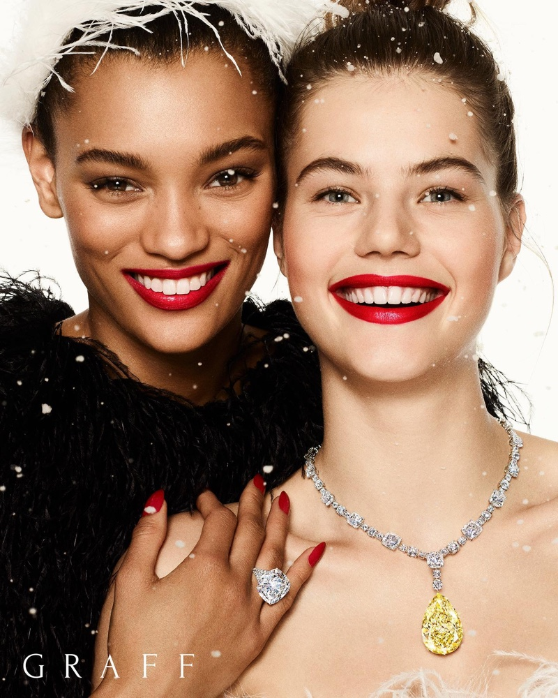 Lameka Fox and Myrthe Bolt star in Graff Diamonds Christmas 2019 campaign