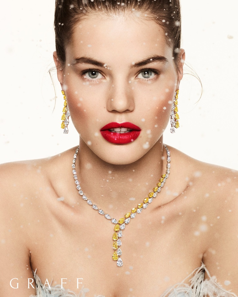 Myrthe Bolt fronts Graff Diamonds Christmas 2019 campaign