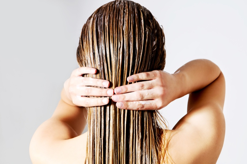Hair Condition Treatment Woman Hands