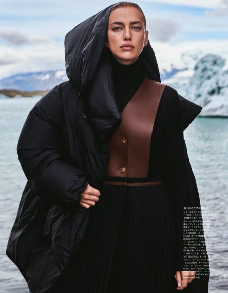 Irina Shayk Layers Up in Iceland for Vogue Japan