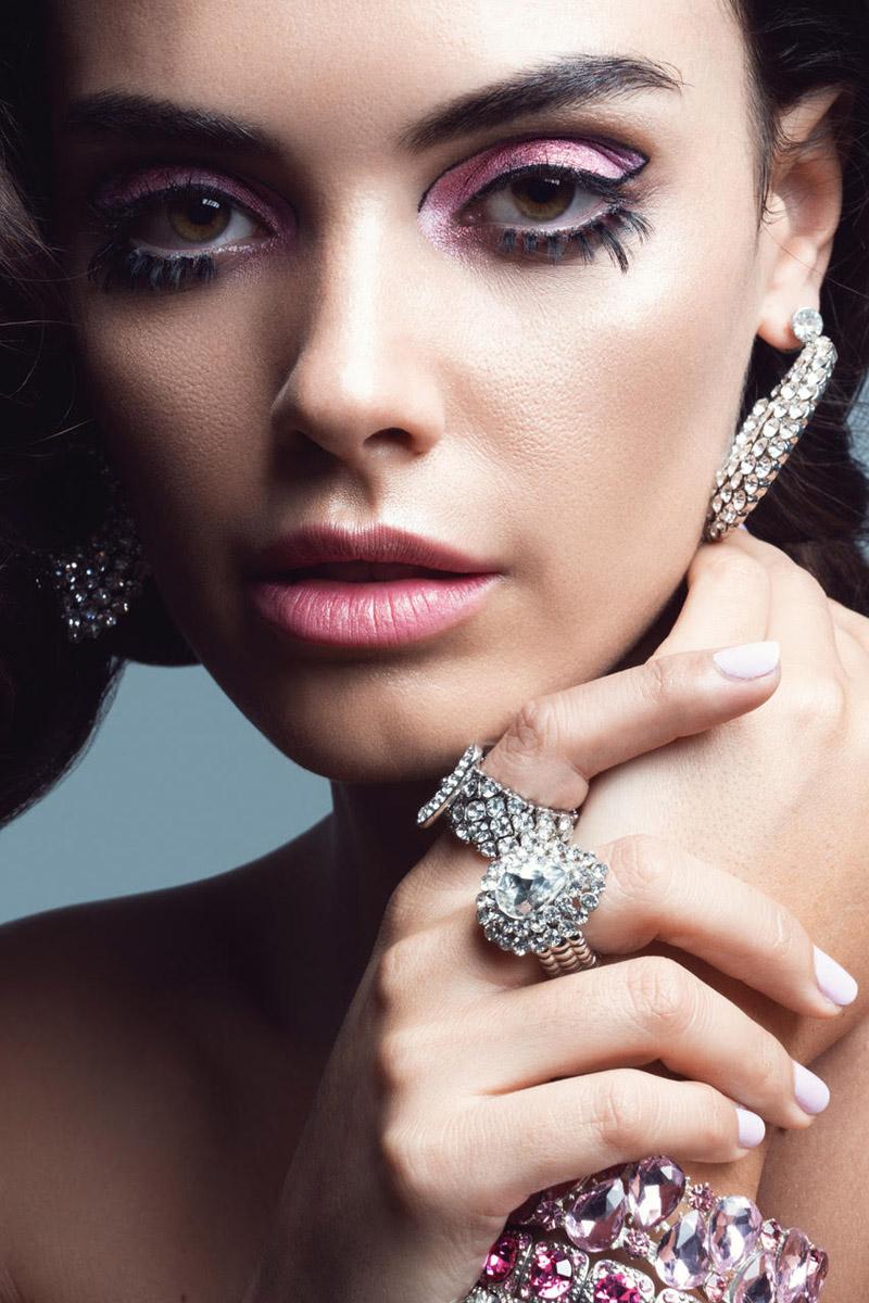 Monika wears Bejeweled earrings, rings and bracelets. Photo: Jeff Tse