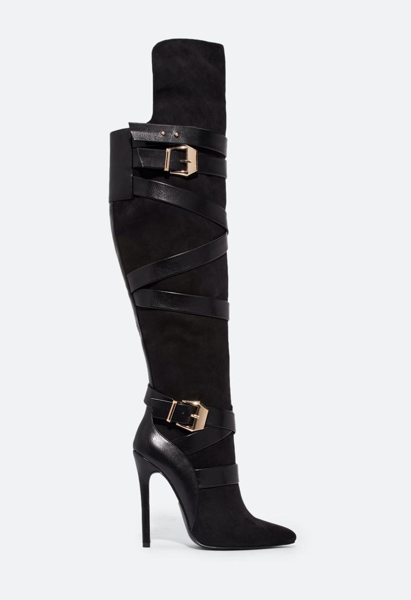 JustFab Geraldine Strappy Stiletto Boot $44.95