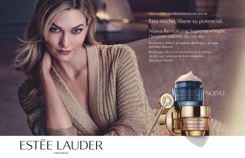 Karlie Kloss stars in Estee Lauder Revitalizing Supreme+ Night campaign