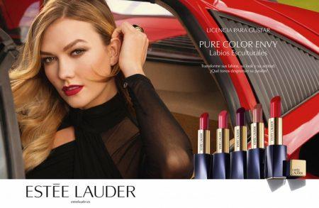 Model Karlie Kloss fronts Estee Lauder Pure Color Envy campaign
