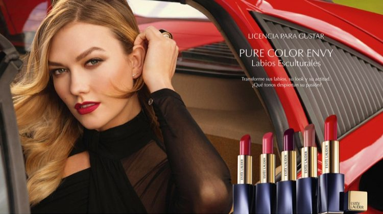 Model Karlie Kloss fronts Estee Lauder Pure Color Envy campaign