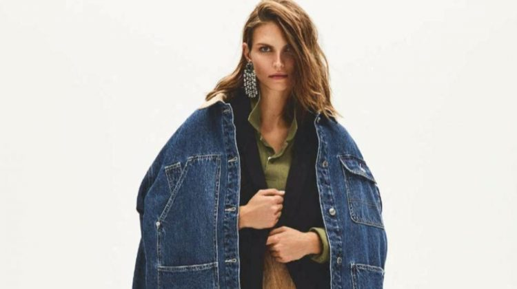 Karlina Caune Layers Up in Trendy Looks for ELLE France