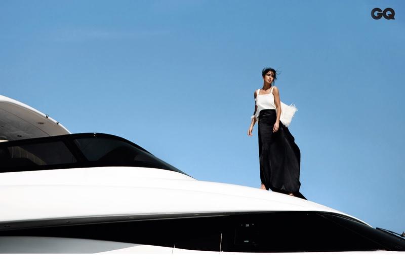 Katrina Kaif wears a Burberry gown