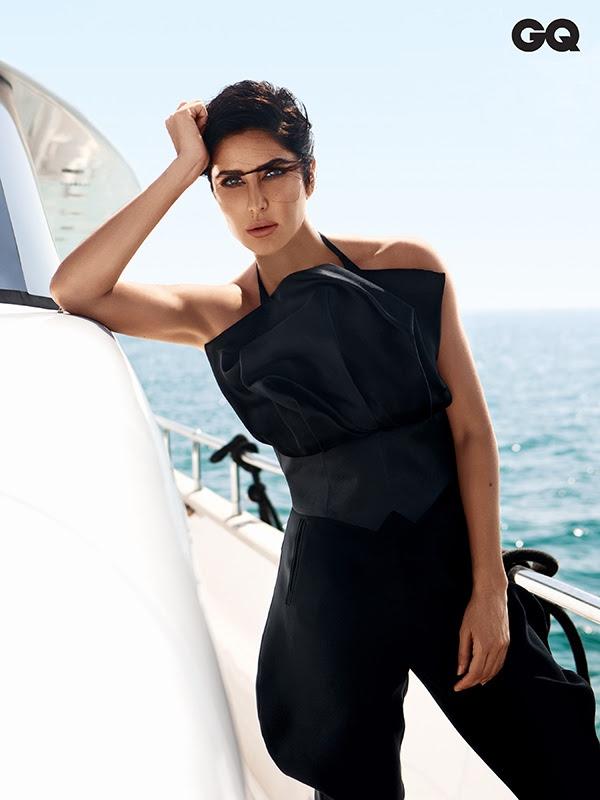 Katrina Kaif strikes a pose in Giorgio Armani top and pants