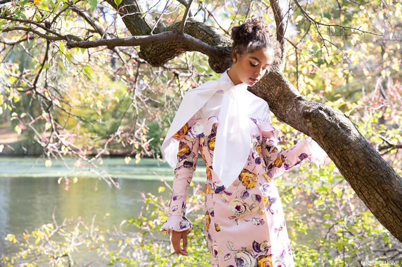 CLAUDIA LI White Bow Blouse and Flor Et. Al June Jacket Dress. Photo: Della Bass