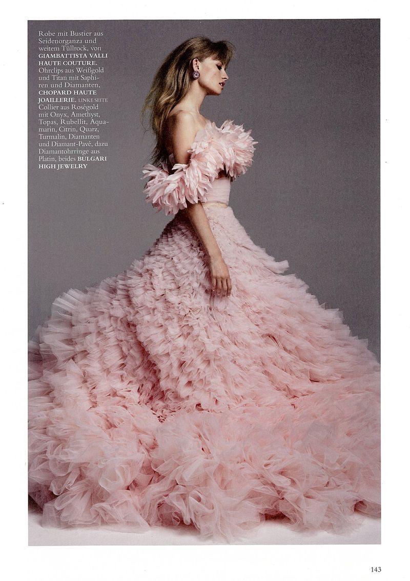 Klara Kristin Models Haute Couture & Gems for Harper's Bazaar Germany