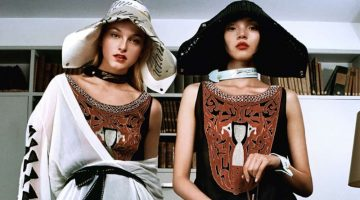 Jean Campbell and Xiao Wen Ju star in Lanvin 130th Anniversary capsule collection campaign
