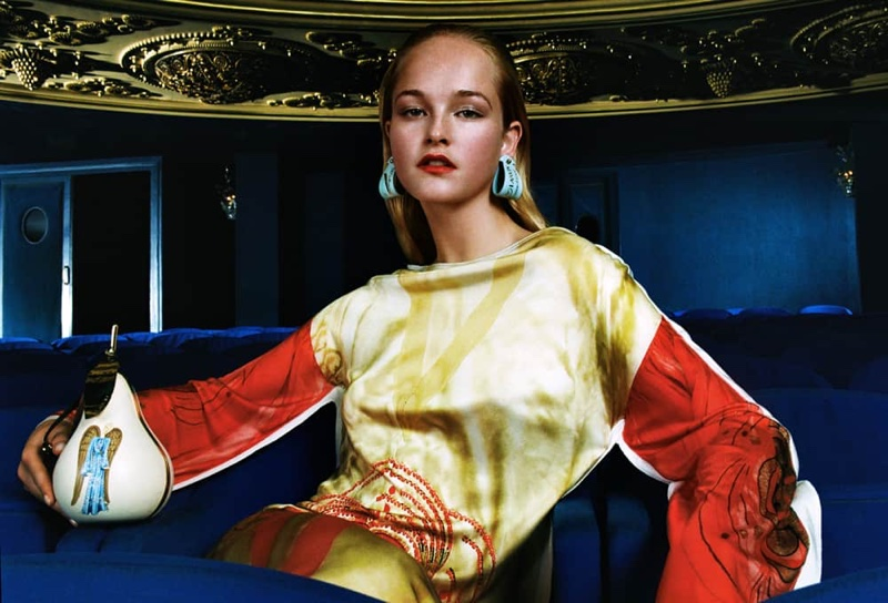 Jean Campbell appears in Lanvin 130th Anniversary capsule collection campaign