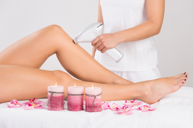 Laser Hair Removal Legs Woman Candles