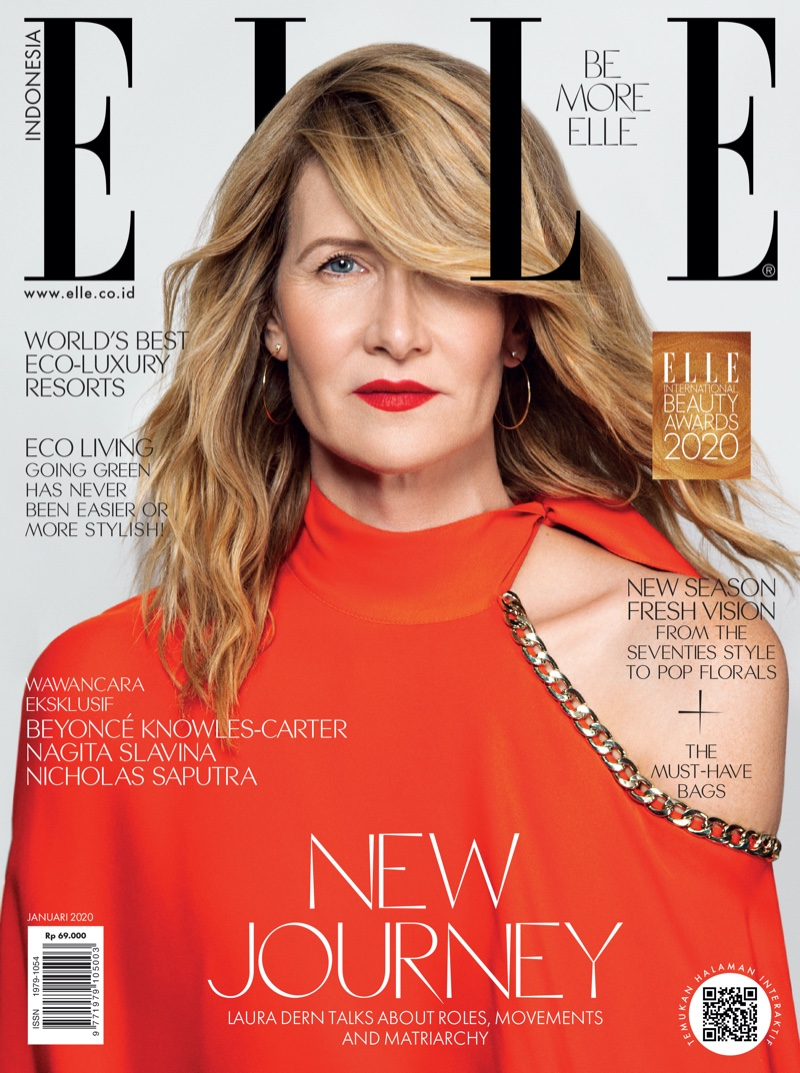 Laura Dern on ELLE Indonesia January 2020 Cover