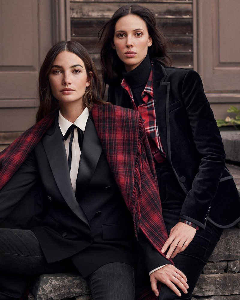Lily and Ruby Aldridge star in Lauren Ralph Lauren Holiday 2019 campaign