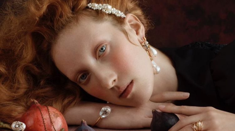 Lorna Foran stars in Liberty Christmas 2019 jewelry campaign