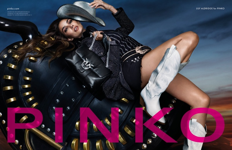 Lily Aldridge stars in Pinko spring-summer 2020 campaign
