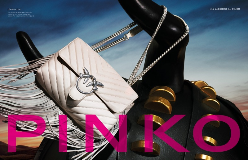 An image from Pinko's spring 2019 advertising campaign