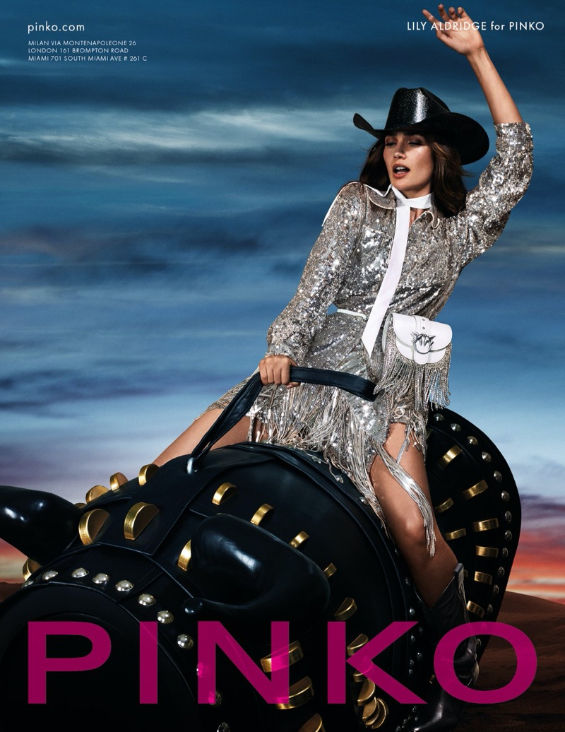 Lily Aldridge is the face of Pinko spring-summer 2020 campaign