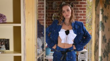Actress Lily-Rose Depp poses in Chanel look. Photo: Tina Barney