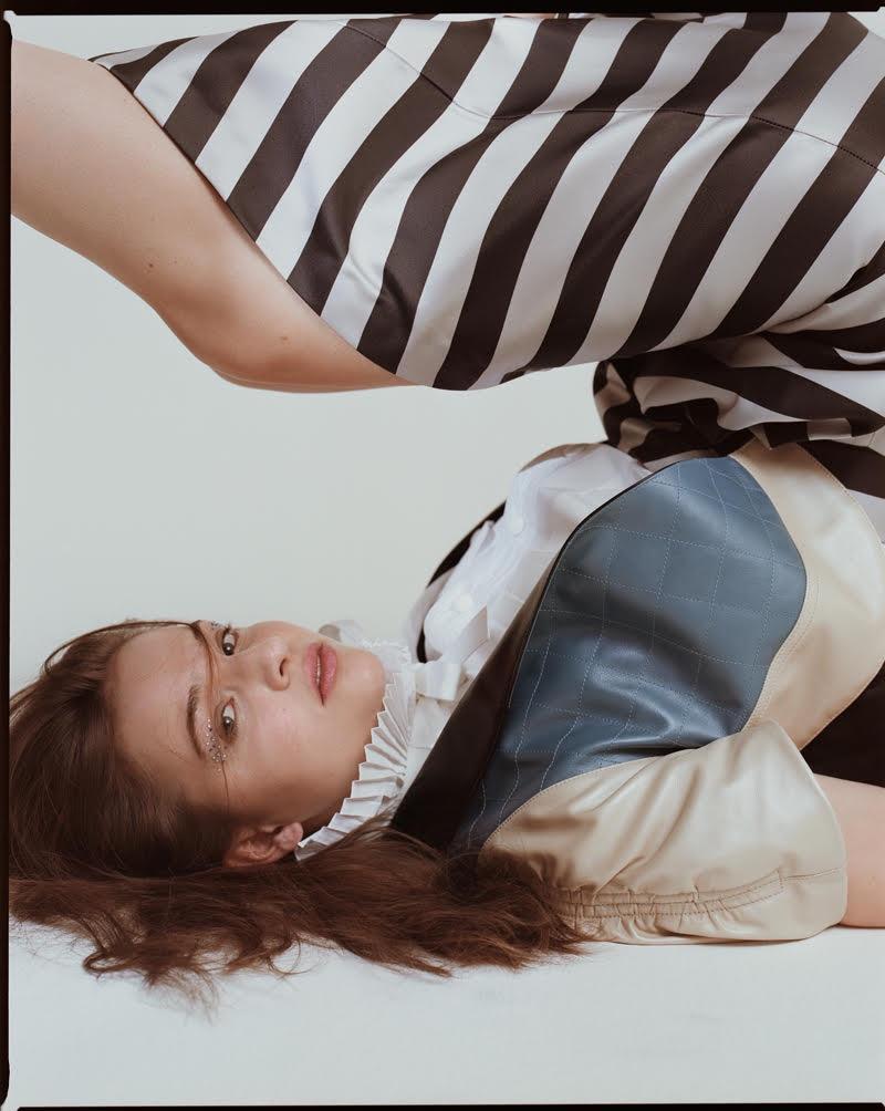 Photographed by Pelle Lannefors, Lisa Vicari wears Louis Vuitton look