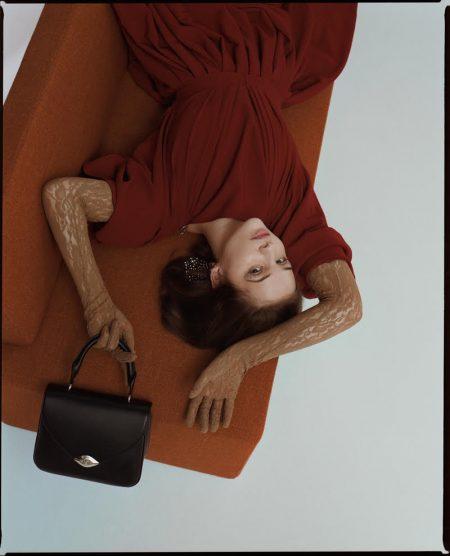 'Dark' Star Lisa Vicari Poses in Sleek Styles for Glamour Italy