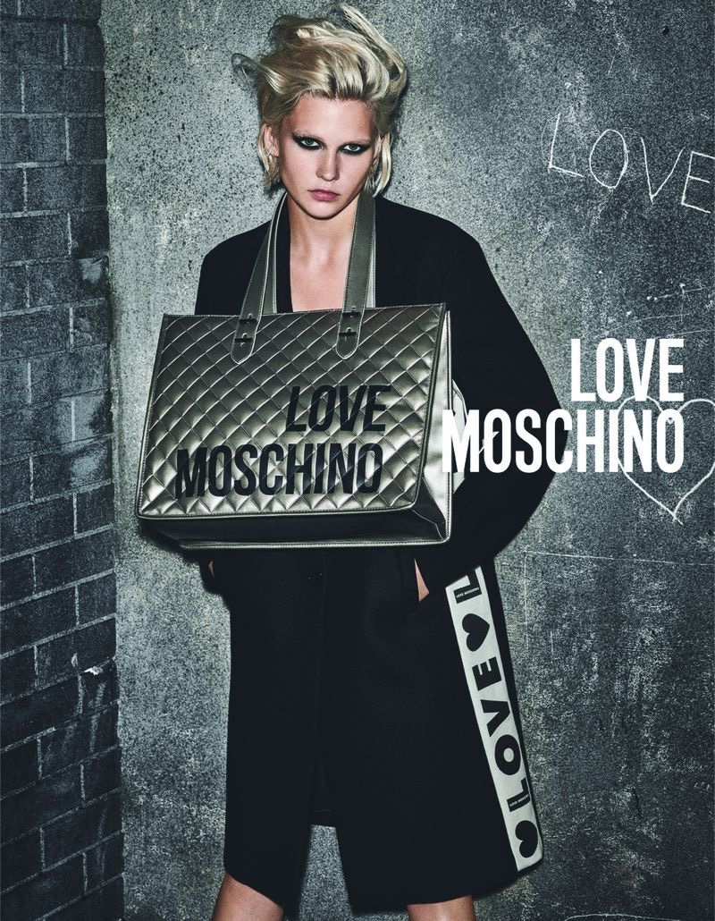 Model Jana Juluis fronts Love Moschino fall-winter 2019 campaign