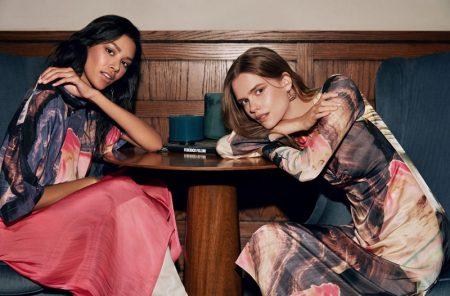 Oriana Gil and Stina Rapp Wastenson pose in Maksu fall-winter 2019 campaign