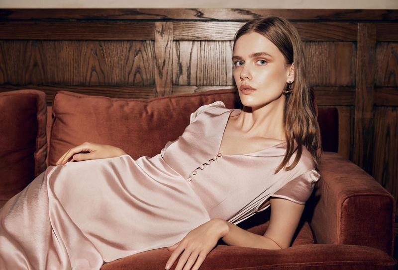 Looking pretty in pink, Stina Rapp Wastenson poses for Maksu fall-winter 2019 campaign
