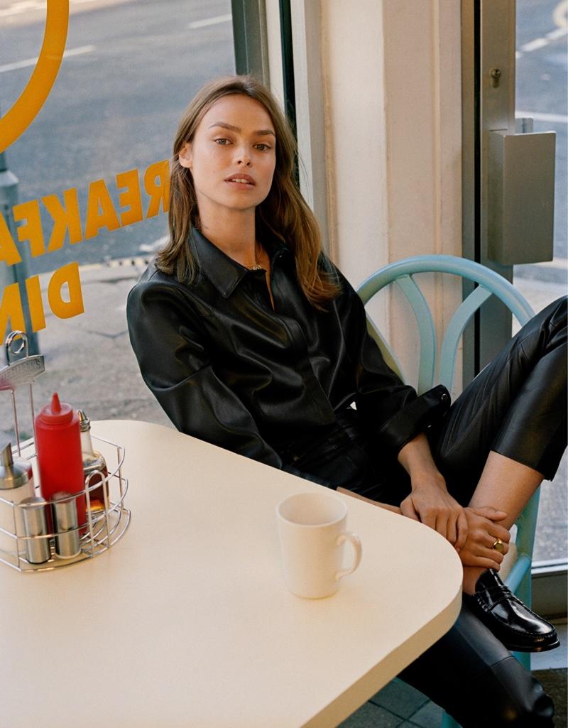 Model Birgit Kos appears in Mango East End Girls fall-winter 2019 editorial