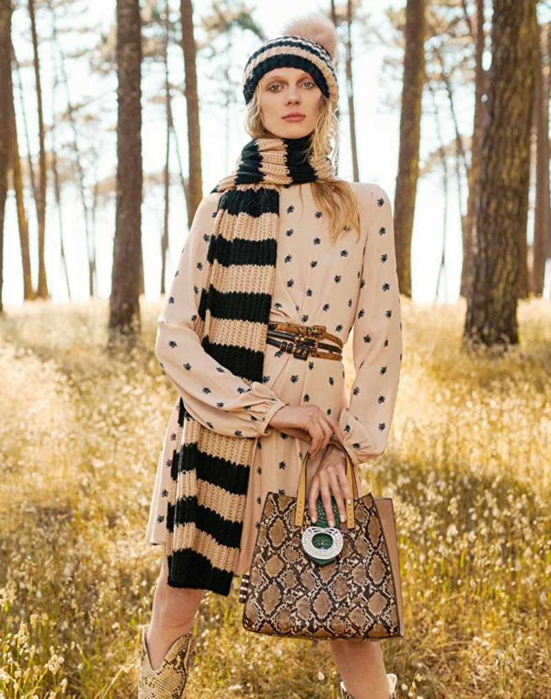 Olga Sherer is the face of Manila Grace fall-winter 2019 campaign