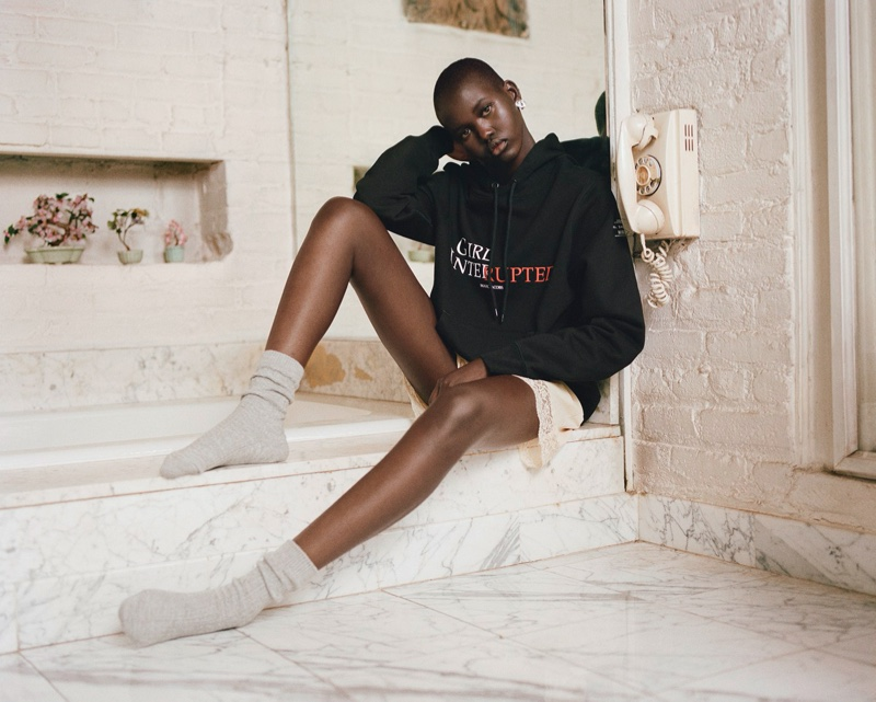 Adut Akech Exudes Cool in Marc Jacobs x Girl, Interrupted Collab