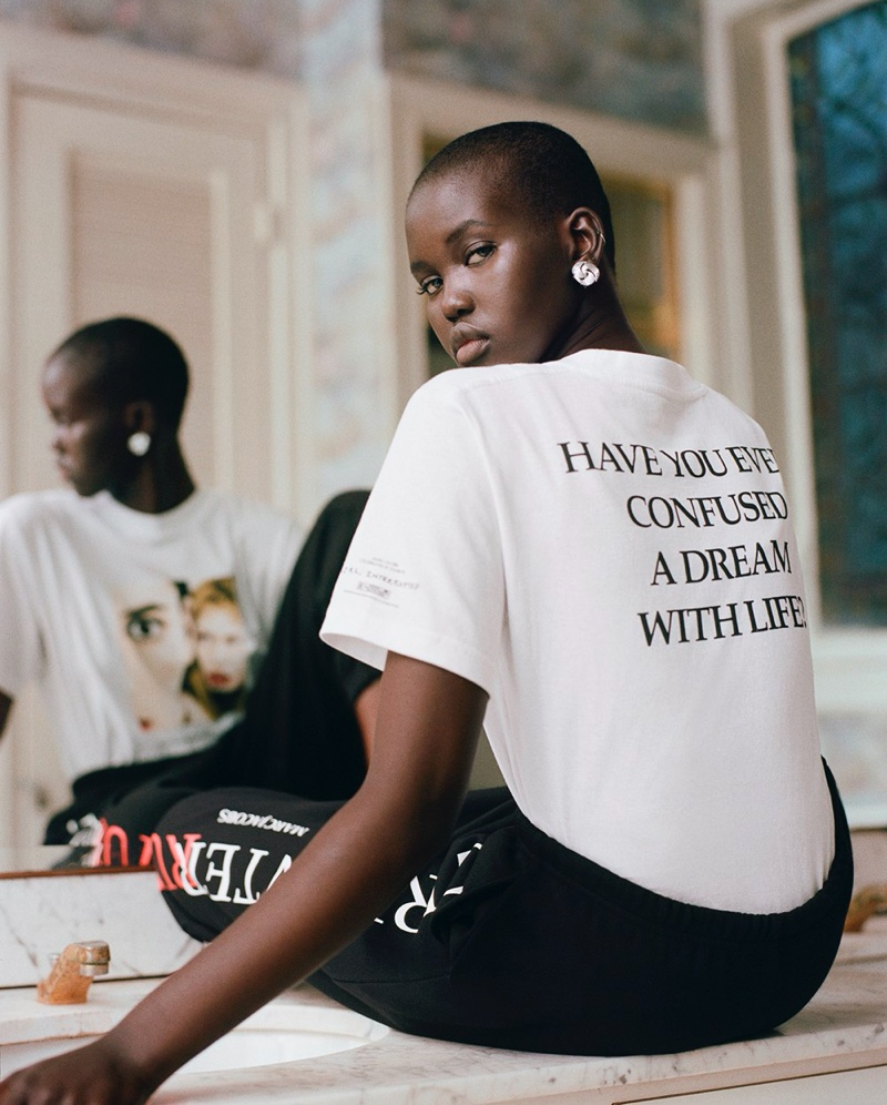 Adut Akech fronts Marc Jacobs x Girl, Interrupted campaign