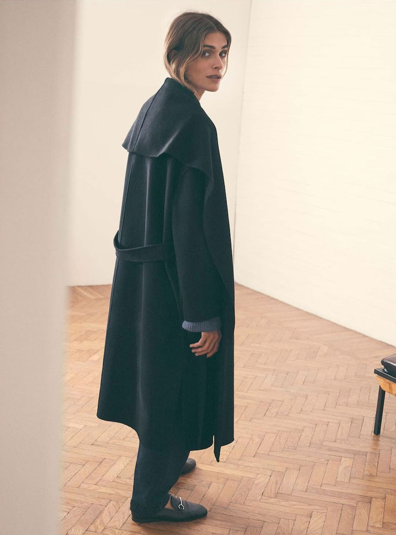Elisa Sednaoui stars in Massimo Dutti Special Coats Edition fall-winter 2019 editorial