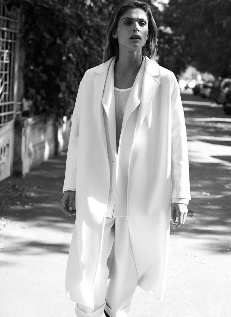 Elisa Sednaoui layers up in Massimo Dutti Special Coats Edition fall-winter 2019 editorial