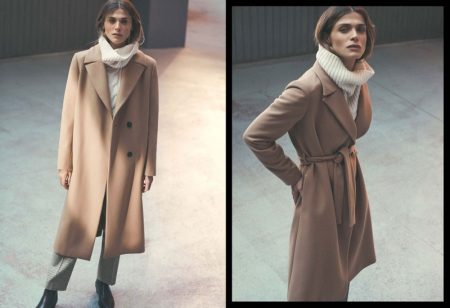 Massimo Dutti Wool Dressing Gown Coat, Limited Edition Alpaca and Wool Sweater Houndstooth Trousers and Ankle Boots