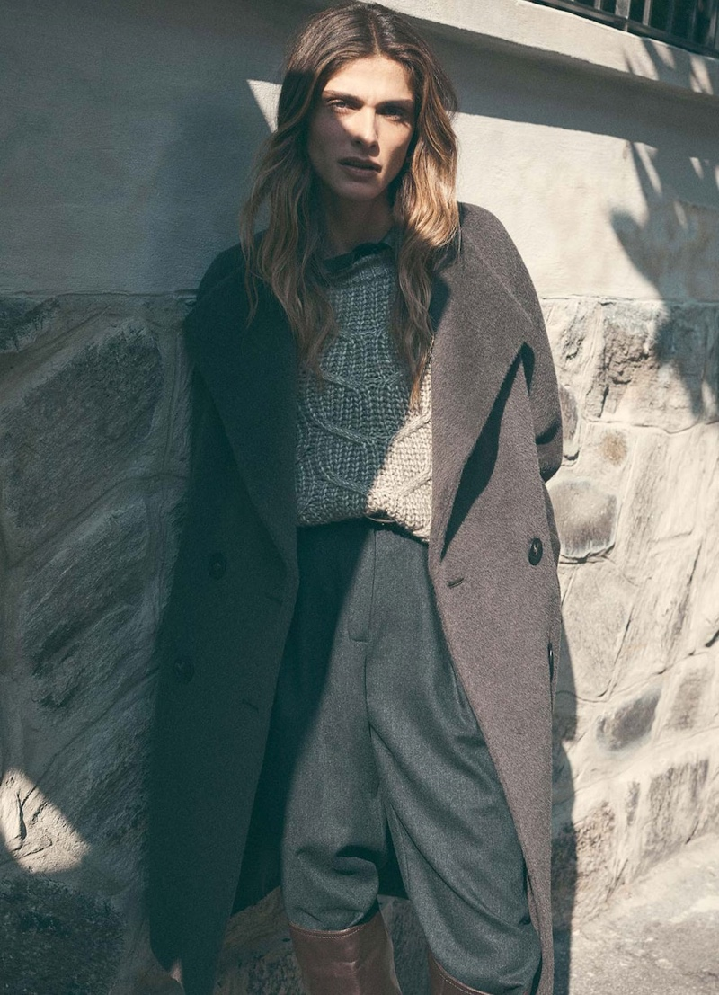 Elisa Sednaoui fronts Massimo Dutti Special Coats Edition fall-winter 2019 editorial