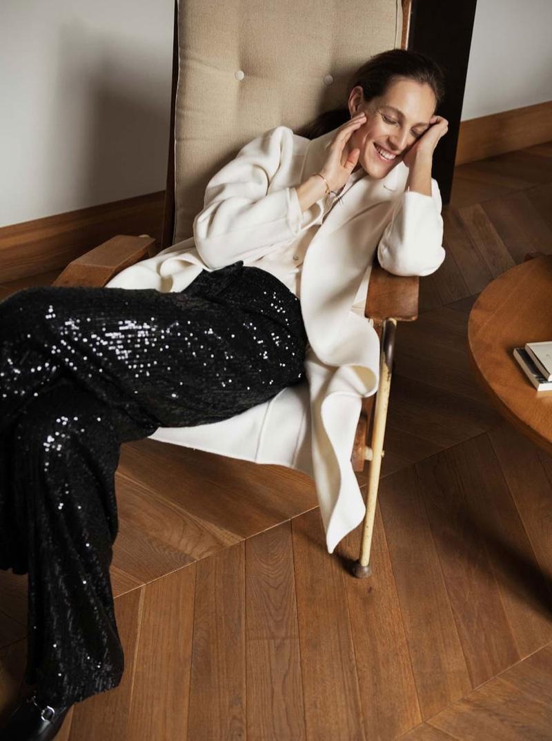 Othilia Simon stars in Massimo Dutti Beyond Purpose December 2019 lookbook