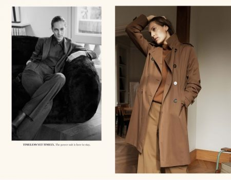 Beyond Purpose: Othilia Simon Poses in Massimo Dutti's Chic Winter Looks
