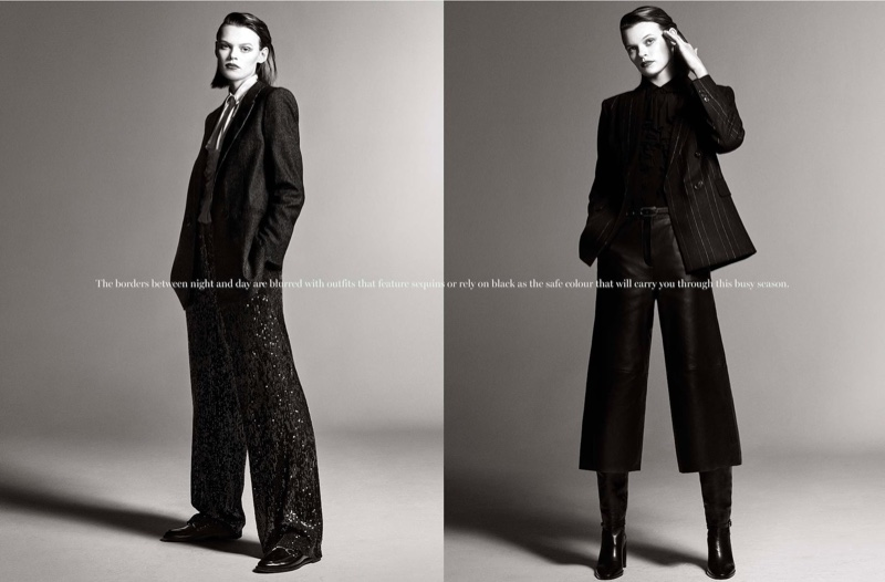 For winter 2019, Massimo Dutti showcases sequin and wool styles