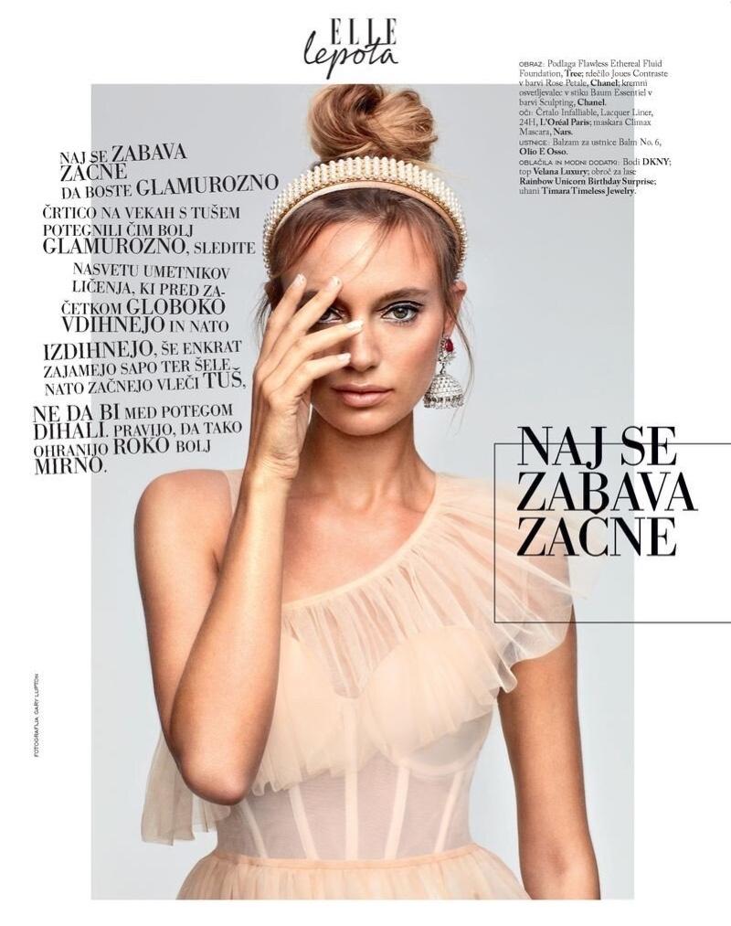Maya Stepper Embraces Festive Beauty for ELLE Slovenia